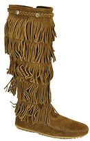 Minnetonka 5Layer - Brown Suede Fringe Boot