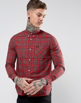 Fred Perry Reissues Tartan Shirt In Red