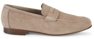 Saks Fifth Avenue Made In Italy Flex Suede Penny Loafers