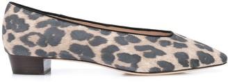 Loeffler Randall Simone leopard-print ballerina shoes