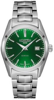 Roamer Ladies' 3 Hands Date 30 mm Dress Watch in Stainless Steel Case and Bracelet