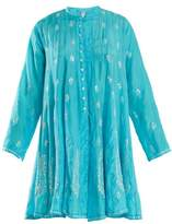 Juliet Dunn Sequin-embellished silk dress