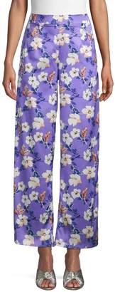 Lea & Viola Floral Wide-Leg Pants