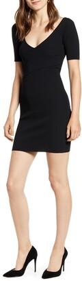 Good American Crisscross Bodice Body-Con Dress