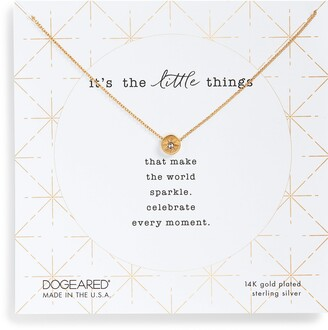 Dogeared It's the Little Things Crystal Pendant Necklace