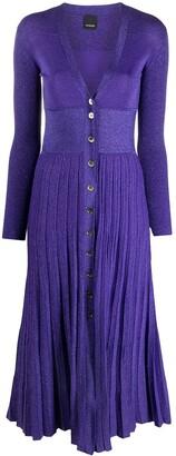 Pinko Metallic Knitted Dress