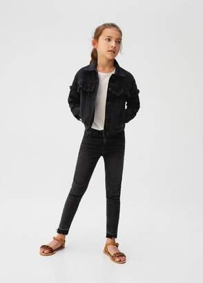 MANGO Frayed details denim jacket