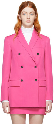 Calvin Klein Pink Wool Double-Breasted Blazer