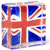 Caithness NEW London 2012 Union Jack Sandcast Paperweight