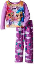 Nickelodeon Girls' Big Girls' Shimmer and Shine Fleece 2-Piece Pajama Set