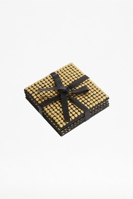 French Connection Set of 4 Gold Studded Coasters