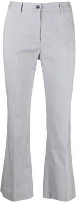 Pt01 Stripe-Print Flared Trousers