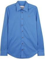 Vivienne Westwood Blue Stretch Cotton Shirt