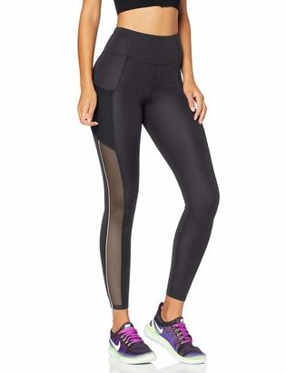Amazon Brand - AURIQUE Women's High Waisted Side Stripe Sports Leggings