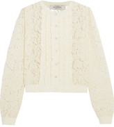 Valentino Ruffle-Trimmed Corded Lace Cardigan