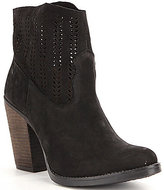 Coolway Avaly Cut Out Detail Block Heel Booties