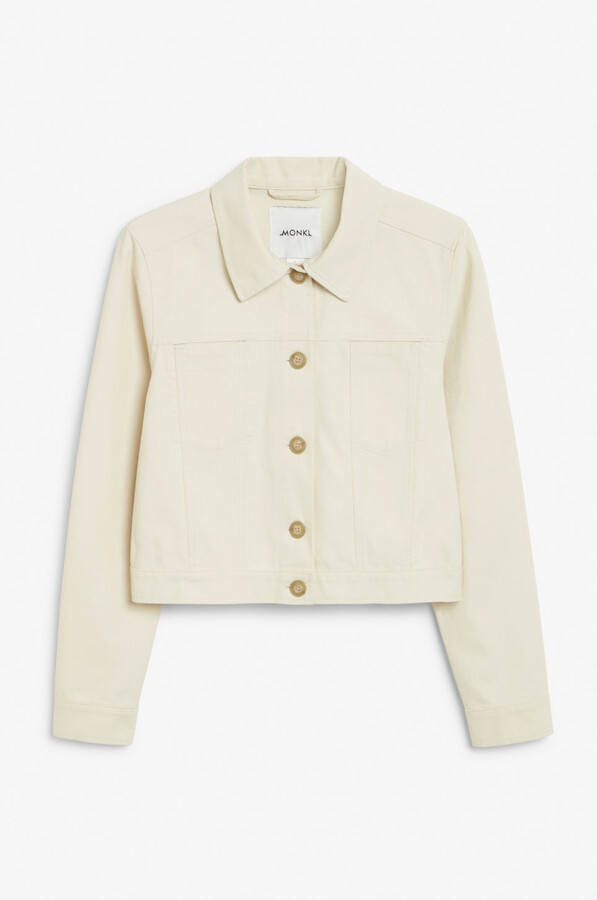 Thumbnail for your product : Monki Cropped boxy jacket