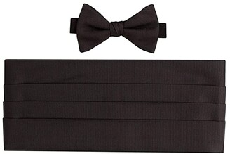 David Donahue Faille Pre-Tied Bowtie and Cummerbund Set