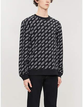 CK Calvin Klein CK50 logo-print stretch-cotton sweatshirt