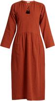 Masscob Lace-up wool and linen-blend dress