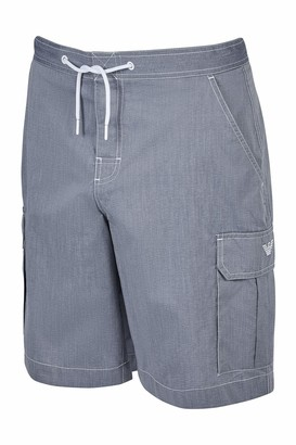 Portfolio Men's Bermuda Beachwear Oxford Swim Trunks