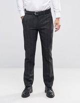 Bellfield Slim Fit Smart Pants in Charcoal
