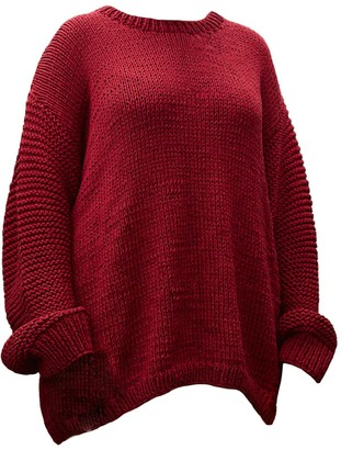 The Knotty Ones Nida Knit In Cherry