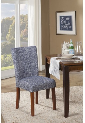 HomePop Blue Etched Woven Parson Chair