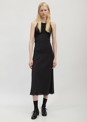 Haider Ackermann Ribbed Cotton and Silk Tank Dress