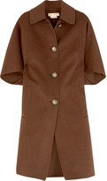 Single-breasted trapeze coat