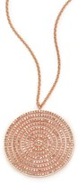 Astley Clarke Icon Light Grey Diamond & 14K Rose Gold Aura Long Large Pendant Necklace