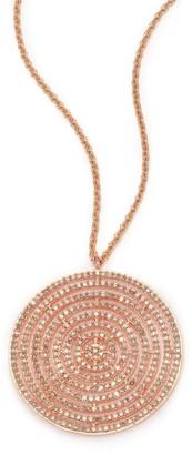 Astley Clarke Icon Light Grey Diamond & 14K Rose Gold Aura Long Large Pendant Necklace