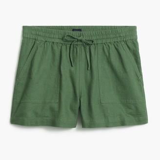 J.Crew Linen-blend drawstring short