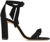 Alexandre Birman chunky heel knot sandals - women - Leather/Suede - 38.5