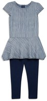 Splendid Girls' Striped Tunic & Leggings Set - Sizes 4-6X