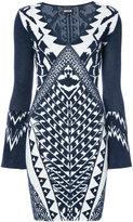 Just Cavalli - robe intarsia à motif
