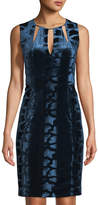 T Tahari Velvet-Burnout Necklace Dress