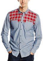 Wesc Men's Marv Long Sleeve Slim Fit Shirt