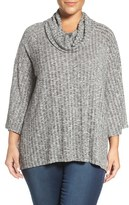 Sejour Plus Size Women's Cowl Neck Top
