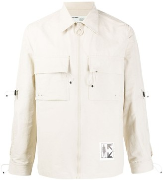 Off-White Universal Key zipped shirt