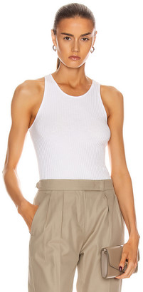 Enza Costa Military Cotton Rib Baseball Tank in White | FWRD