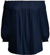 Ralph Lauren Woman Smocked Off-The-Shoulder Top