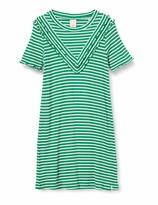 Scotch /& Soda Girls Velvet Sweat Dress in Houndstooth All-Over Print