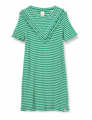 Scotch & Soda Girl's Jersey Rib Dress in A-line Fit and Ruffle Details