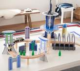 Pottery Barn Kids Wooden Metropolis Play City Train Track Set