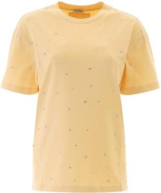 Miu Miu Embellished T-Shirt