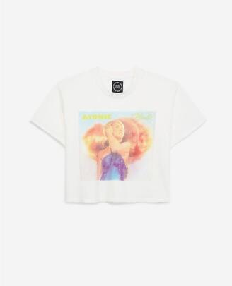 The Kooples Ecru cotton T-shirt with Blondie motif