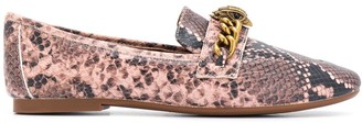 Kurt Geiger Chelsea snakeskin print loafers
