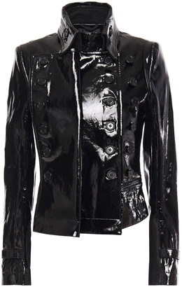 Ann Demeulemeester Layered Patent-leather Jacket