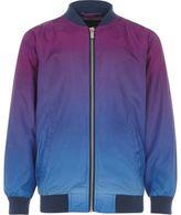 River Island Boys purple colour fade bomber jacket